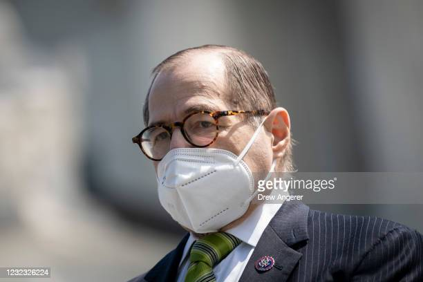 House Judiciary Committee Chairman Rep. Jerrold Nadler attends a press conference in front of the U.S. Supreme Court to announce legislation to...