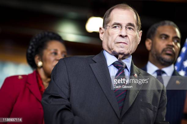 House Judiciary Committee Chairman Rep Jerry Nadler attends a news conference on April 9 2019 in Washington DC House Democrats unveiled new letters...