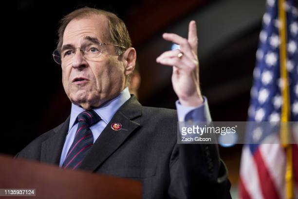 House Judiciary Committee Chairman Rep Jerry Nadler speaks during a news conference on April 9 2019 in Washington DC House Democrats unveiled new...