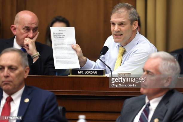 House Judiciary Committee member Rep Jim Jordan speaks during a markup hearing where members may vote to hold Attorney General William Barr in...