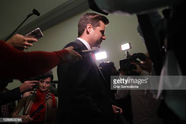 House Judiciary Committee member Rep Matt Gaetz talks with reporters before heading into a closeddoor hearing in the Rayburn House Office Building on...