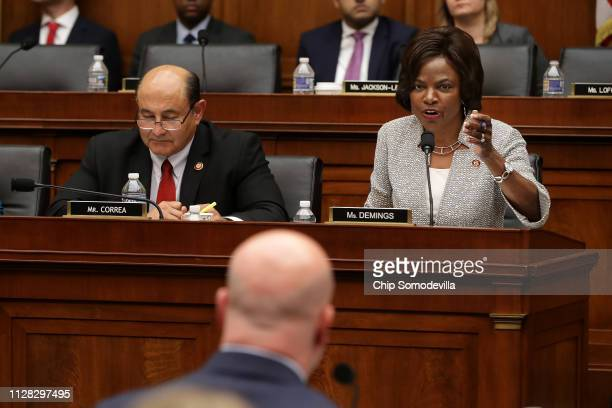 House Judiciary Committee member Rep Val Butler Demings questions Acting US Attorney General Matthew Whitaker during an oversight hearing in the...