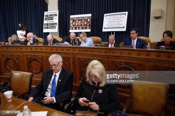 House Judiciary Committee members look on during a House Judiciary Committee markup of Articles of Impeachment against US President Donald J. Trump...