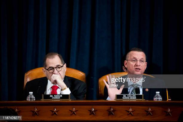 House Judiciary Committee Ranking Member Doug Collins speaks at a public impeachment inquiry hearing with the House Judiciary Committee in the...
