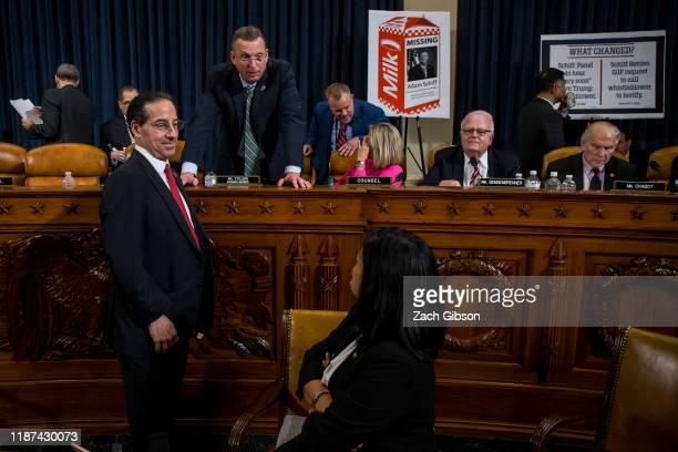 House Judiciary Committee Ranking Member Doug Collins speaks to Rep. Jamie Raskin , and Rep. Pramila Jayapal during a House Judiciary Committee...