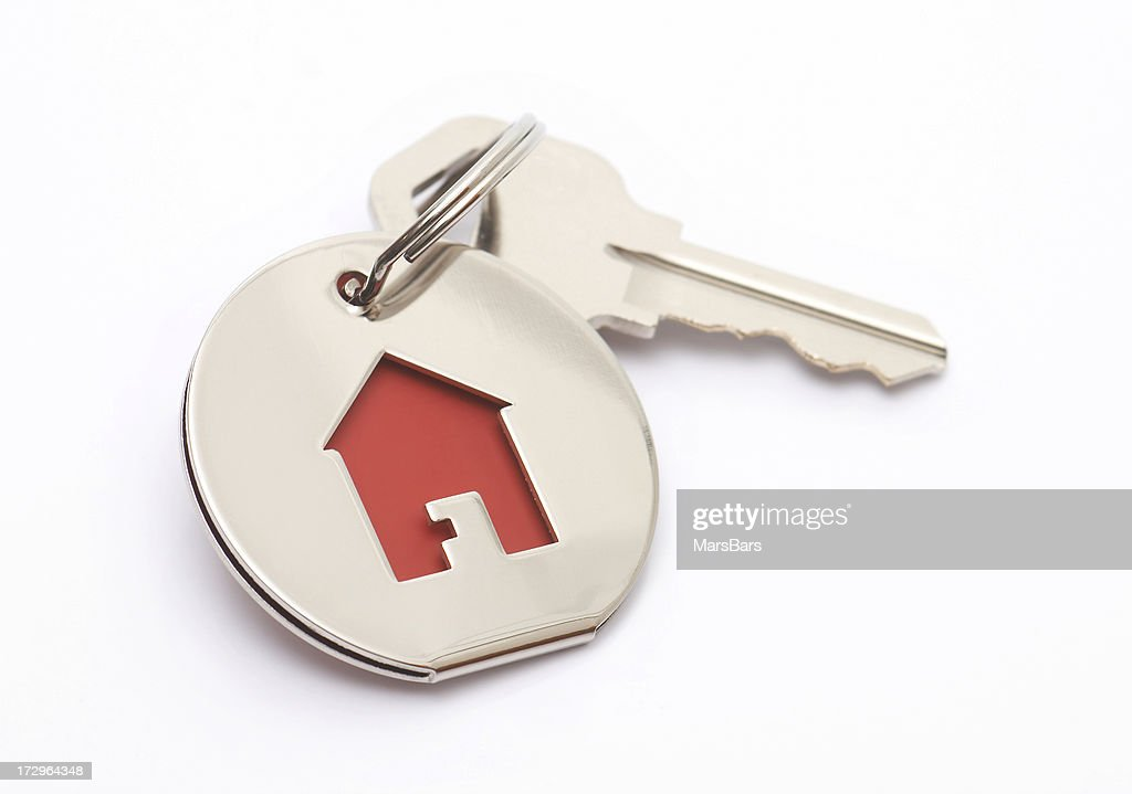 house key and keychain : Stock Photo