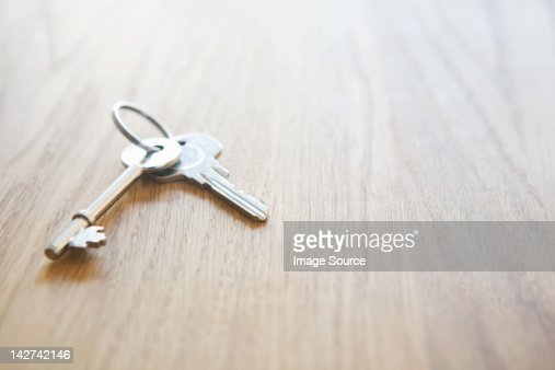 House Keys On A Table High-Res Stock Photo - Getty Images