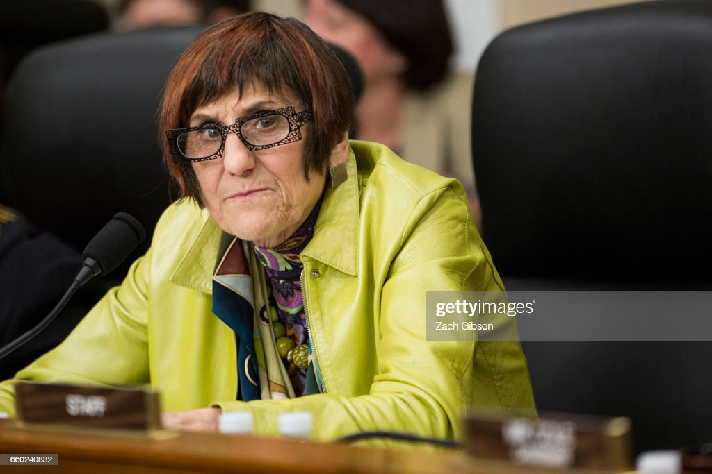 House Labor Health and Human Services, Education, and Related Agencies Subcommittee ranking member Rosa DeLauro (D-CT) attends a Senate Energy Subcommittee hearing discussing cybersecurity threats to the U.S. electrical grid on Capitol Hill on March 28, 2017 in Washington, D.C.