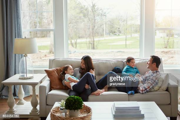house + love = home - family home stock photos and pictures