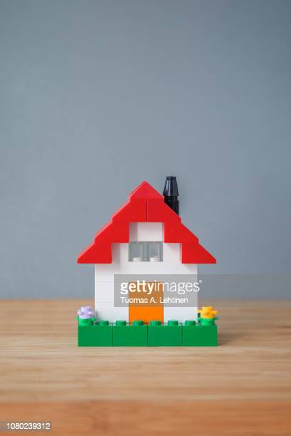 House made of toy bricks
