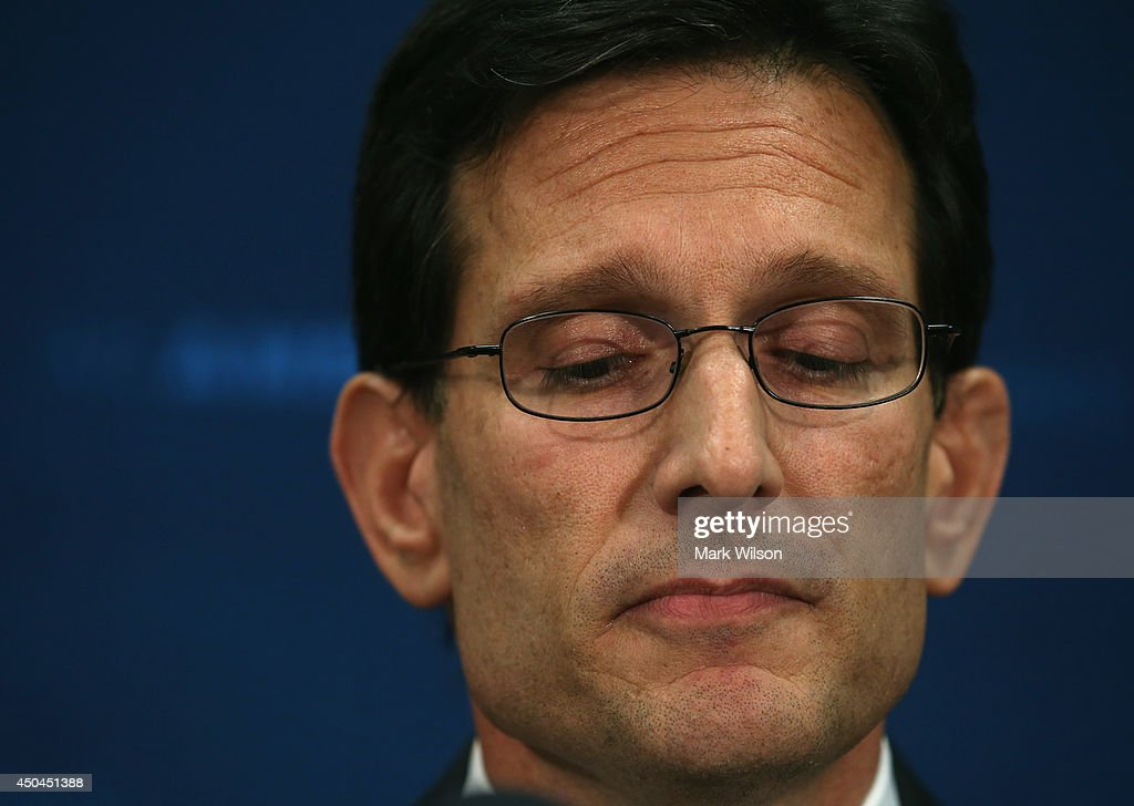 Eric Cantor Holds Press Conference At Capitol One Day After Primary Defeat : News Photo
