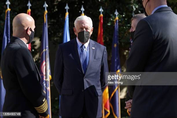 House Majority Leader Rep. Steny Hoyer waits for the beginning of a September 11 observance ceremony for Pentagon employees at the Pentagon September...
