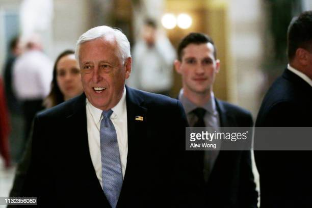 S House Majority Leader Rep Steny Hoyer walks to the House chamber for a vote February 26 2019 at the US Capitol in Washington DC The House is...