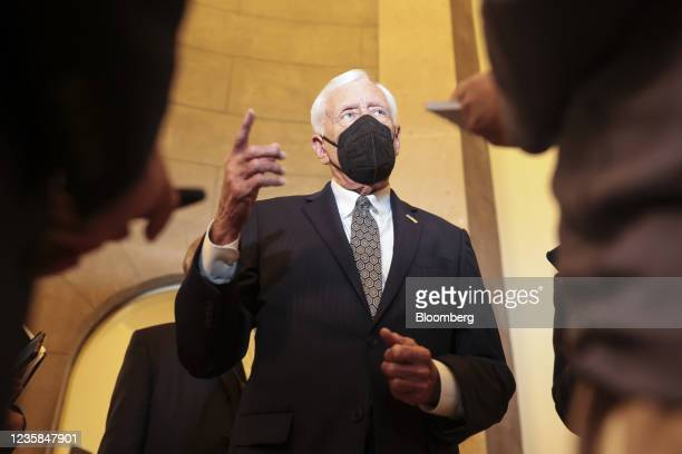 House Majority Leader Steny Hoyer, a Democrat from Maryland, talks to members of the media at the U.S. Capitol in Washington, D.C., U.S., on Tuesday,...