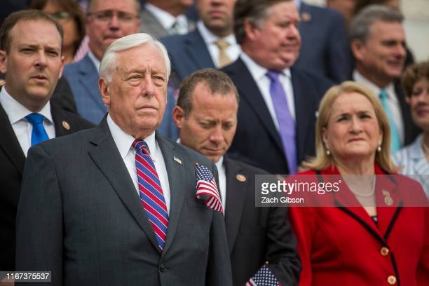 House Majority Leader Steny Hoyer attends an observance and campus wide moment of silence for the National Day of Service and Remembrance honoring...