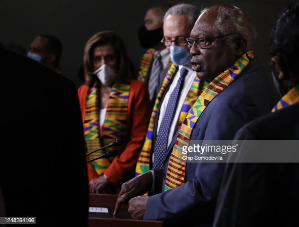 House Majority Whip James Clyburn joins fellow Democrats from the House and Senate to announce new legislation to end excessive use of force by...