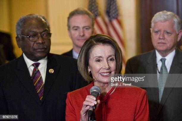 House Majority Whip James E Clyburn DSC Assistant to the Speaker Chris Van Hollen DMd House Speaker Nancy Pelosi DCalif and House Democratic Caucus...