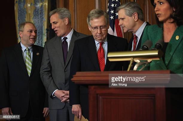 House Majority Whip Rep. Steve Scalise , House Majority Leader Rep. Kevin McCarthy , Senate Majority Leader Sen. Mitch McConnell , Sen. John Hoeven...