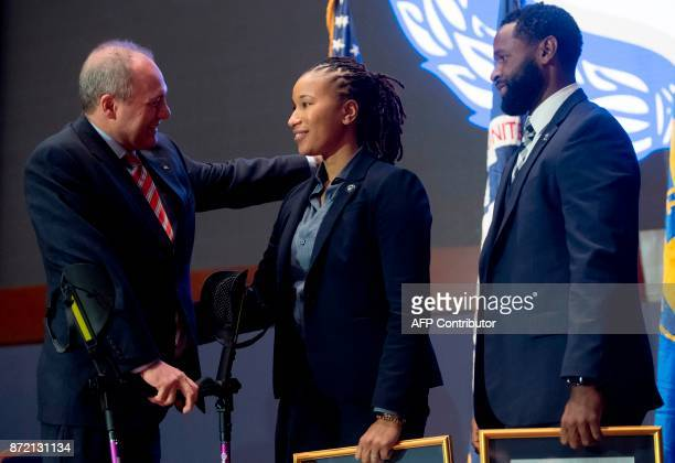 US House Majority Whip Steve Scalise Republican of Louisiana who was shot during the attack against members of the Republican Congressional baseball...