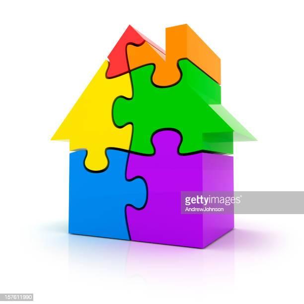House Market Puzzle Concept