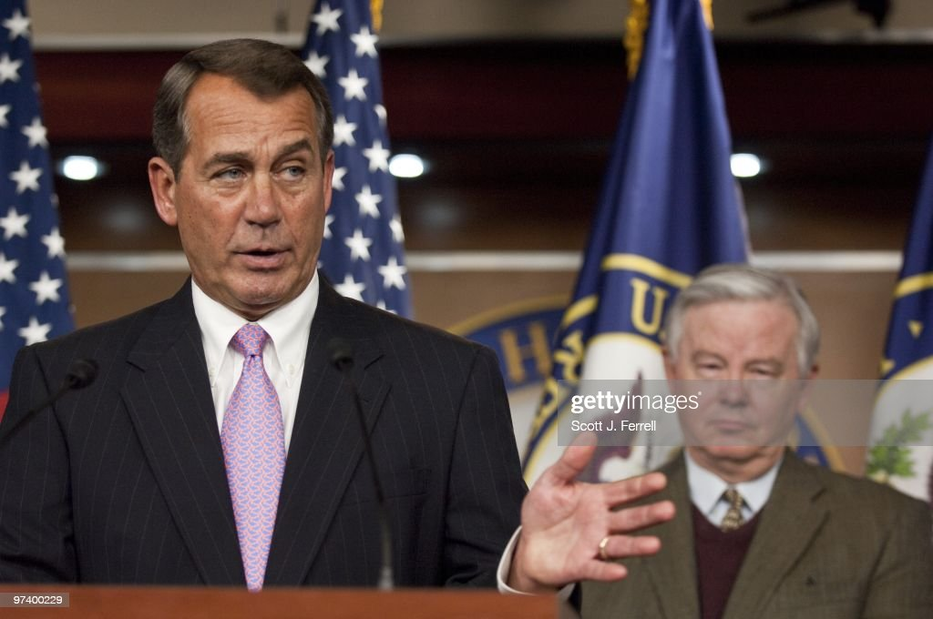 House Minority Leader John A Boehner ROhio And House Energy Ranking Member  Joe L Barton RTexas