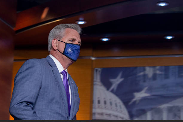DC: House Minority Leader Kevin McCarthy Holds Weekly News Conference On Capitol Hill