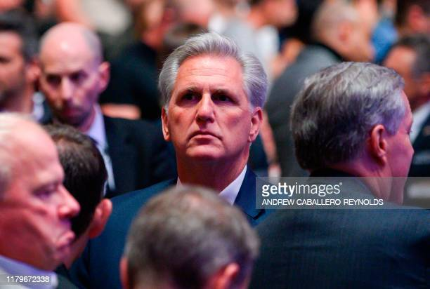 House Minority Leader Kevin McCarthy attends the Ultimate Fighting Championship at Madison Square Garden in New York City New York on November 2 2019...