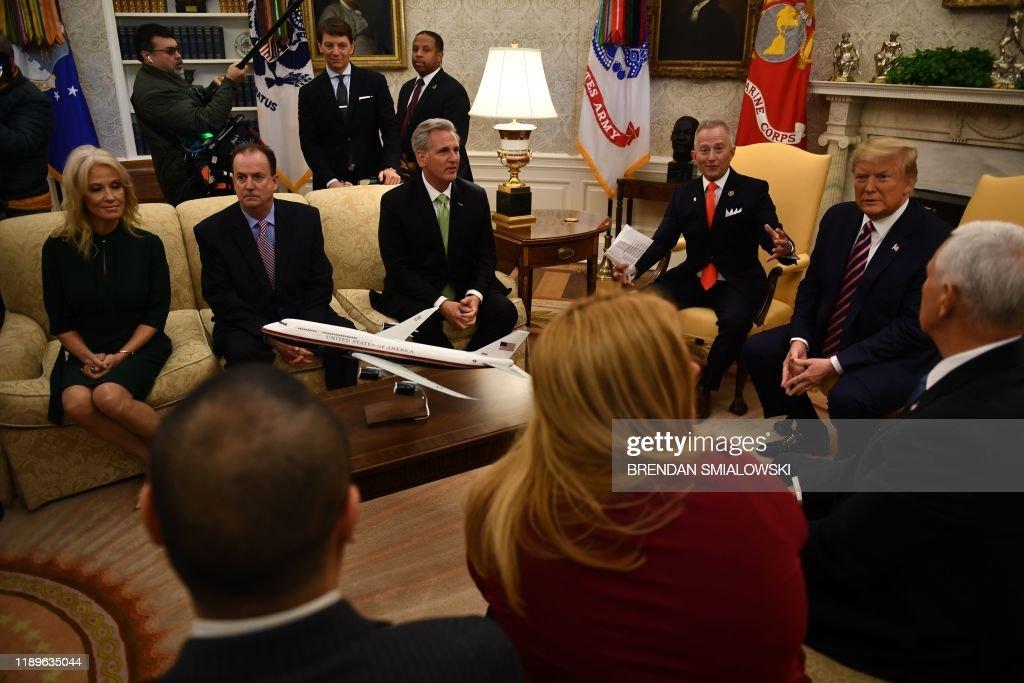 politics-Trump-US-POLITICS-TRUMP-IMPEACHMENT-PARTY : News Photo