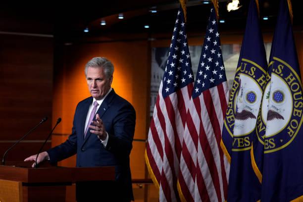 DC: House Minority Leader McCarthy Holds Weekly Press Briefing