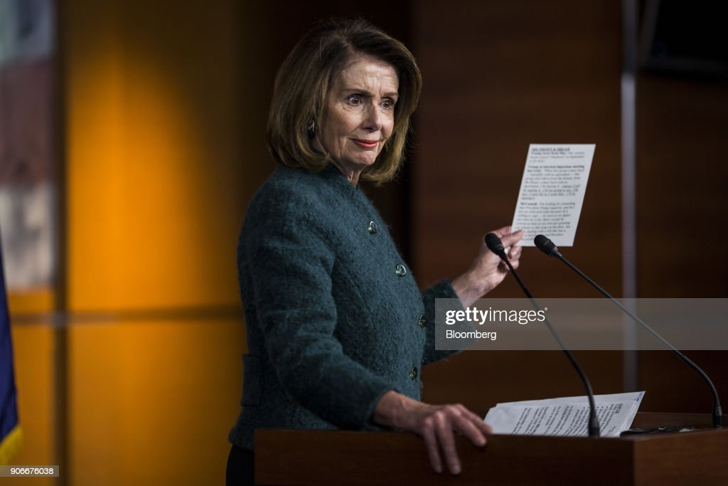 Nancy Pelosi Holds News Conference As Democrats Outline Stopgap Priorities