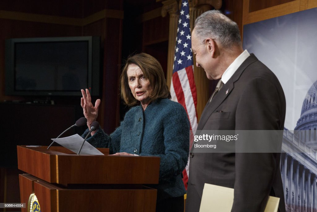 Senate Democratic Leader Schumer And House Minority Leader Pelosi Hold News Conference