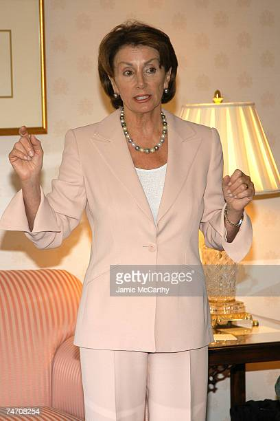 House Minority Leader Nancy Pelosi at the The Four Seasons Hotel in Boston Massachusetts
