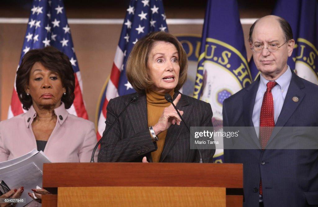 "Nancy Pelosi, House Democrats Discuss Trump's ""Anti-Worker Agenda"" : News Photo"