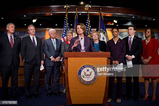 House Minority Leader Nancy Pelosi DCalif conducts a news conference in the Capitol Visitor Center to introduce the Democracy Task Force that will...