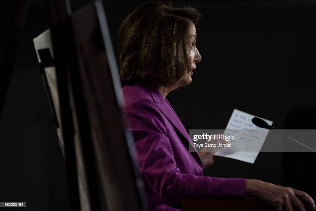 Nancy Pelosi Holds Her Weekly Press Conference At The Capitol
