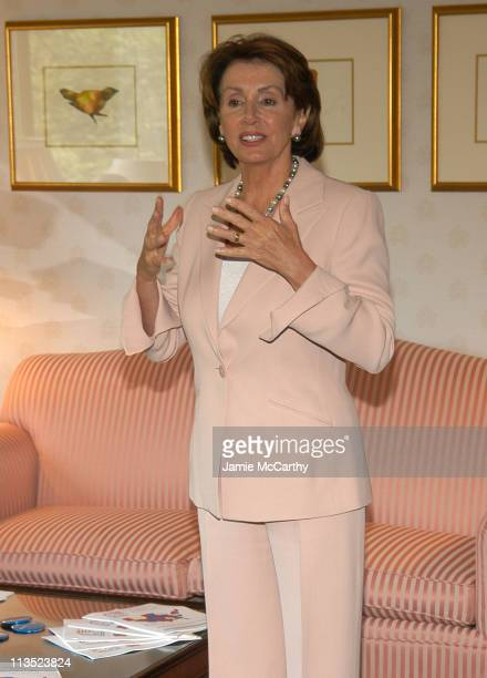 House Minority Leader Nancy Pelosi during The Creative Coalition's Private TCC Meeting with House Minority Leader Nancy Pelosi at The Four Seasons...