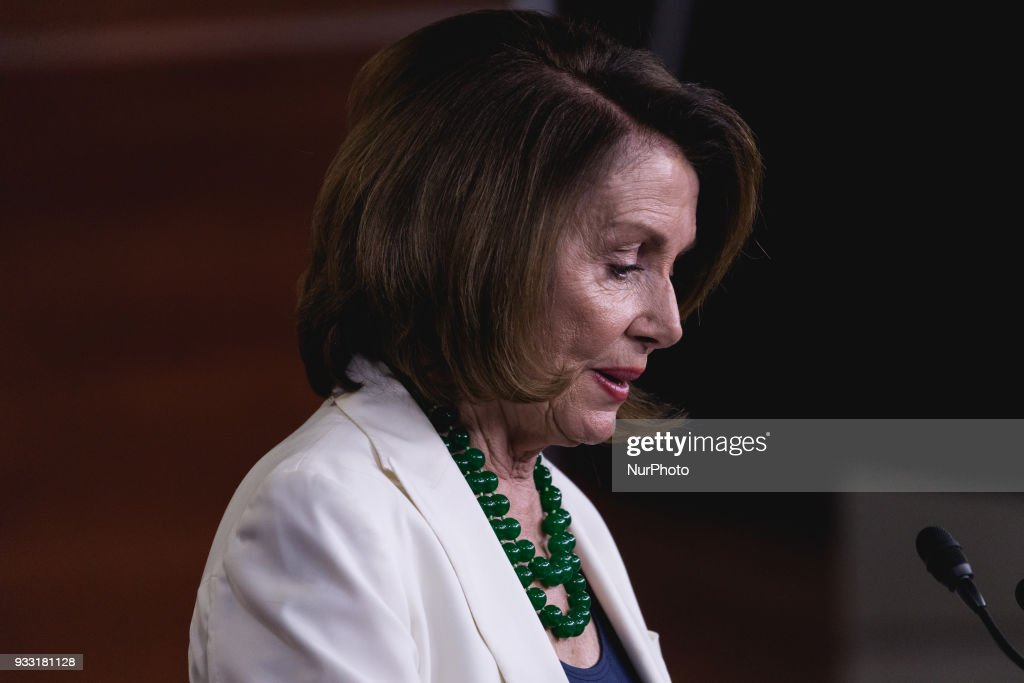 House Minority Leader Nancy Pelosi held a press conference at the U.S. Capitol on Thursday, March 15, 2018.