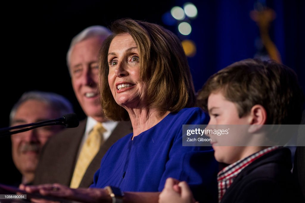 Nancy Pelosi And Congressional Democrats Gather In Washington DC For Election Night : News Photo