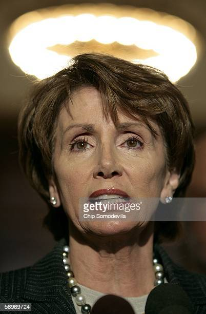 House Minority Leader Nancy Pelosi joined other Democratic leaders to hold a press conference in the Cannon House Office Building on Capitol Hill...