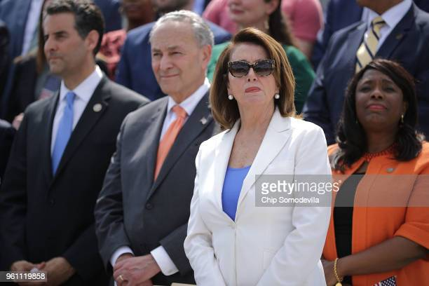 House Minority Leader Nancy Pelosi joins fellow Democrats from the House and Senate to introduce a new campaign to retake Congress during a news...