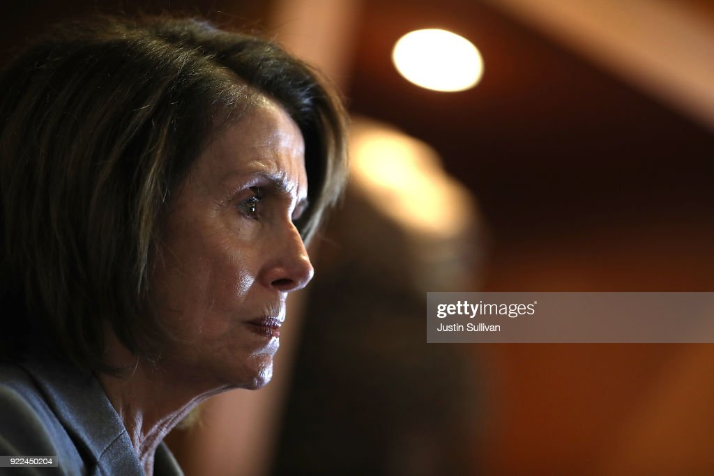 House Minority Leader Nancy Pelosi (D-CA) Discusses The Consequences Of The Tax Cuts And Jobs Act : ニュース写真