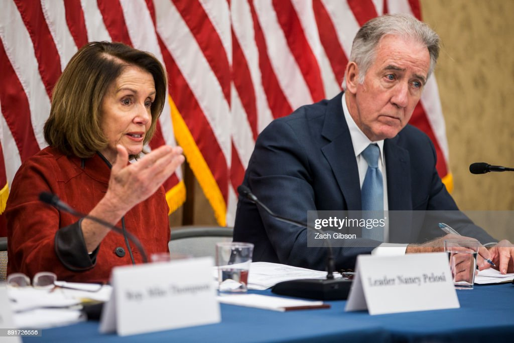 House Democratic Leader Nancy Pelosi And House Dem Leadership Hold Forum On The GOP Tax Plan