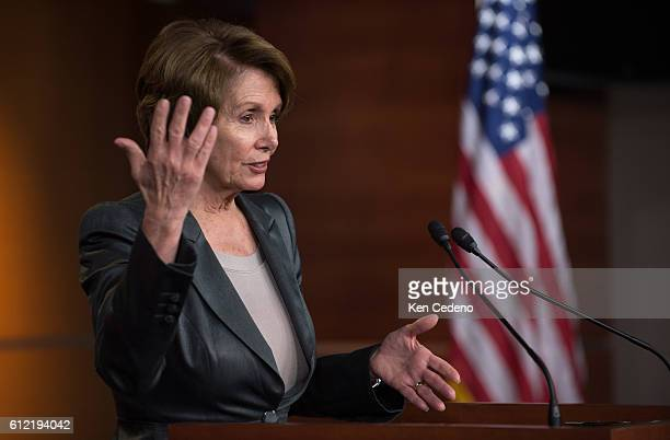 House Minority Leader Nancy Pelosi speaks during a news conference about the ongoing fiscal cliff budget impasse in Washington DC December 20 2012...