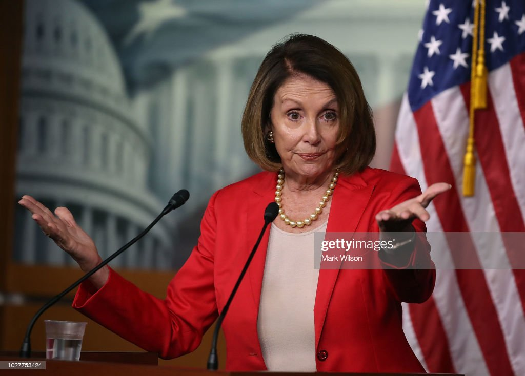 House Democratic Leader Nancy Pelosi Holds Weekly News Conference : News Photo