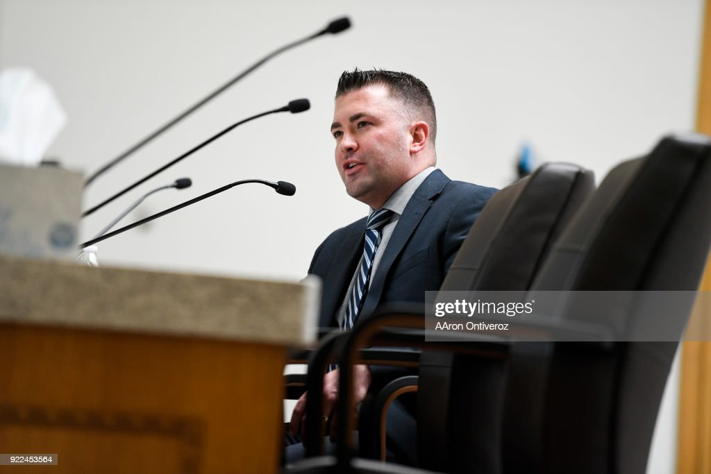 House Minority Leader Patrick Neville, R-Castle Rock, speaks to the Democratic-controlled House State, Veterans and Military Affairs Committee at the Colorado State Capitol on Wednesday, February 21, 2018. The committee heard three Republican bills to loosen Colorado gun laws. All are expected to be rejected by Democrats.