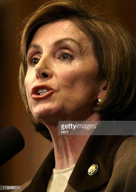 WASHINGTON DC House Minority Leader Rep Nancy Pelosi DCalif speaks at the Press Club in Washington Monday January 27 about President Bush's upcoming...
