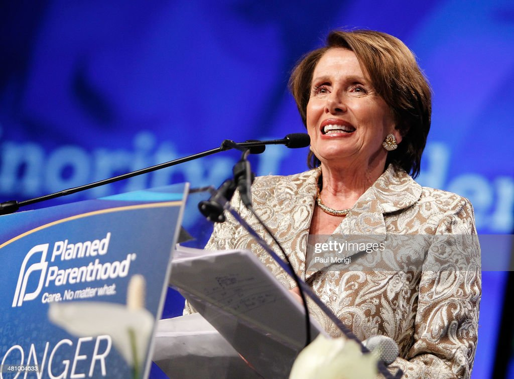 U.S. House Minority Leader Rep. Nancy Pelosi (D-CA) makes a few remarks after receiving the Margaret Sanger Award at the Planned Parenthood Federation Of America's 2014 Gala Awards Dinner at the Marriott Wardman Park Hotel on March 27, 2014 in Washington, DC.