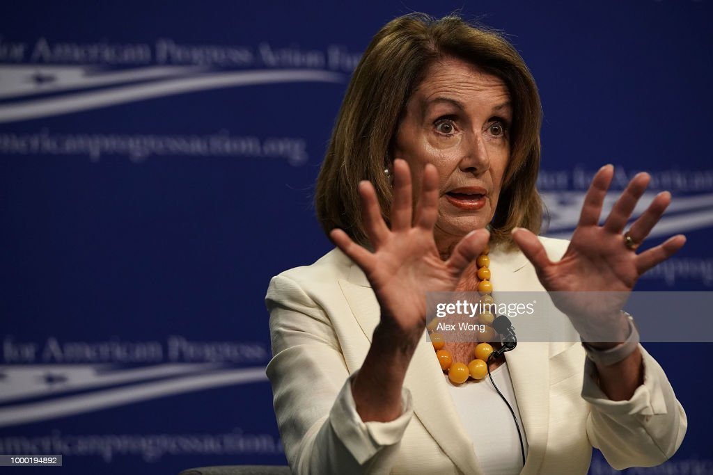 Pelosi Speaks At Center For American Progress On Corruption And Policymaking : News Photo