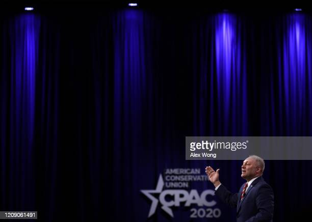 House Minority Whip Rep. Steve Scalise speaks during the annual Conservative Political Action Conference at Gaylord National Resort & Convention...