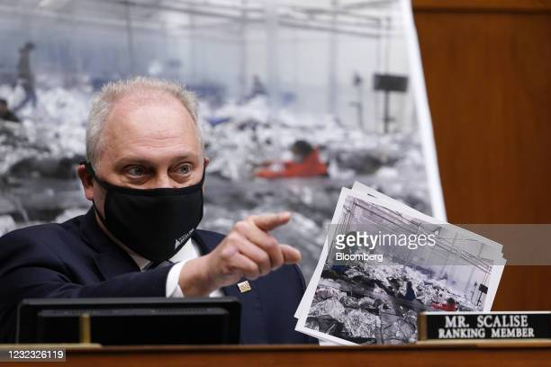 House Minority Whip Steve Scalise, a Republican from Louisiana, speaks during a Select Subcommittee On Coronavirus Crisis hearing in Washington,...